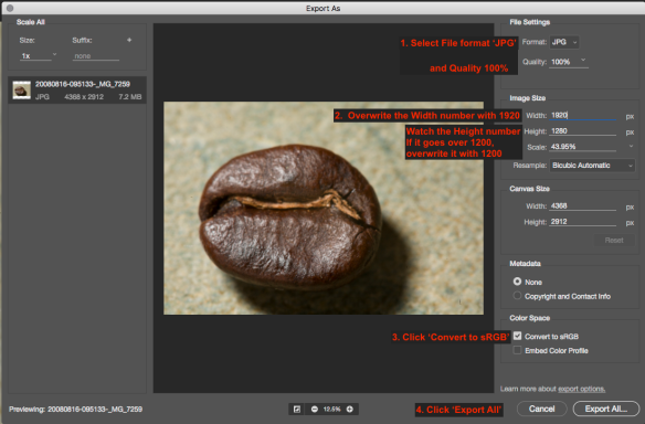 Preparing Images for Projection (or display on the Web